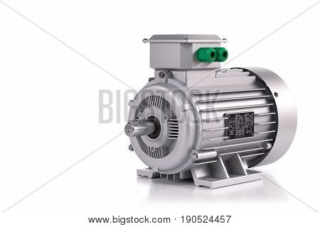 Industrial Electric Motor Silver