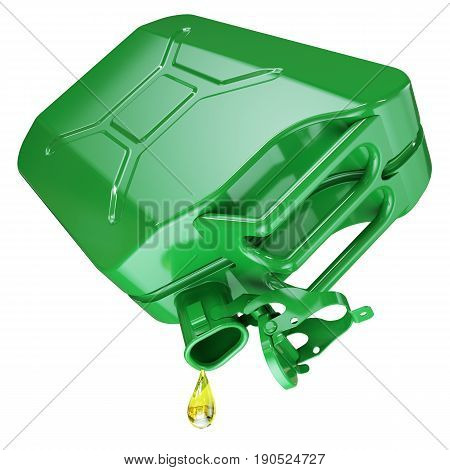 The Last Drop Of Fuel In An Empty Jerry Can