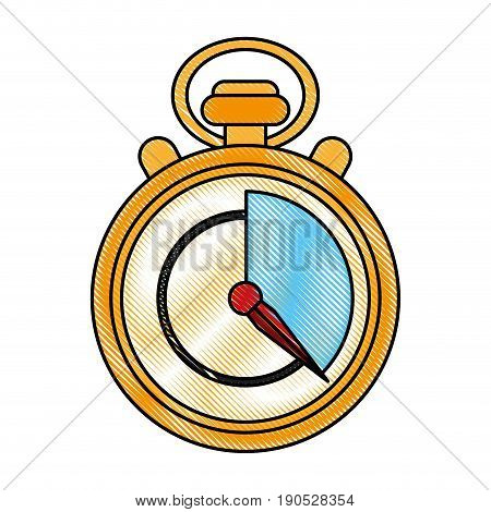chronometer flat illustration icon vector design graphic scribble