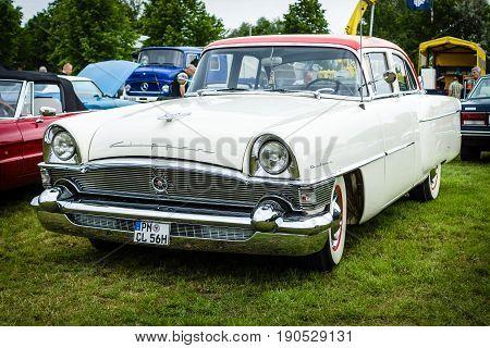 PAAREN IM GLIEN GERMANY - JUNE 03 2017: Vintage car packard Clipper DeLuxe 1956. Exhibition