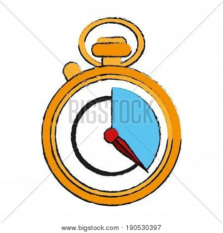 chronometer draw illustration icon vector design graphic