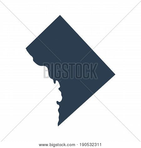 map of the U.S. District of Columbia vector on a white background