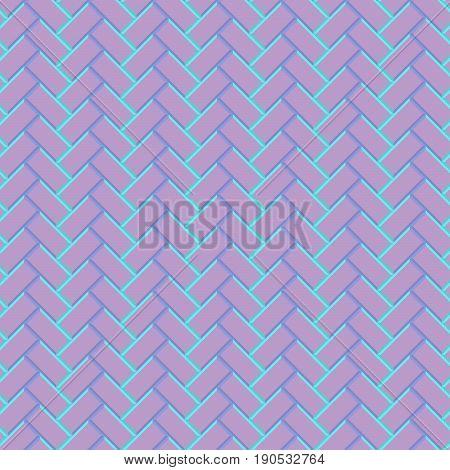 Seamless Surface Pattern With Blocks Ornament. Mosaic Parquet Wallpaper. Fashion Graphic Design. Vec