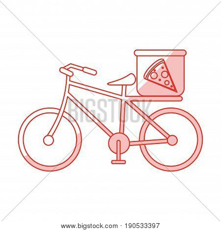 pizza bycicle shadow illustration icon vector design graphic