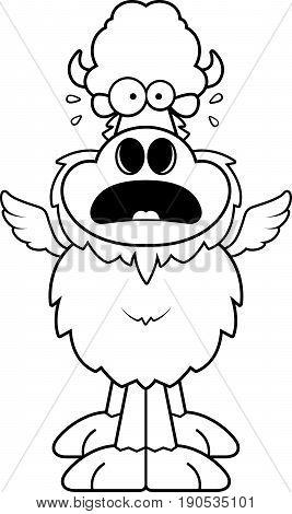 Scared Cartoon Buffalo Wings