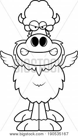 Angry Cartoon Buffalo Wings