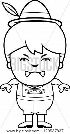 Angry Cartoon Lederhosen Boy