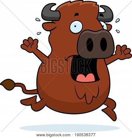Cartoon Buffalo Panic