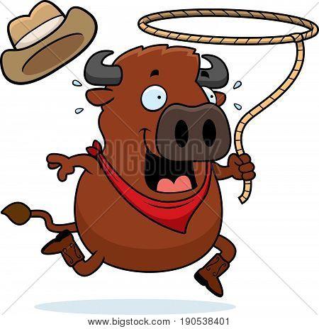 Cartoon Buffalo Rodeo