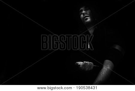 Conceptual Abstract Photo Addicted Man