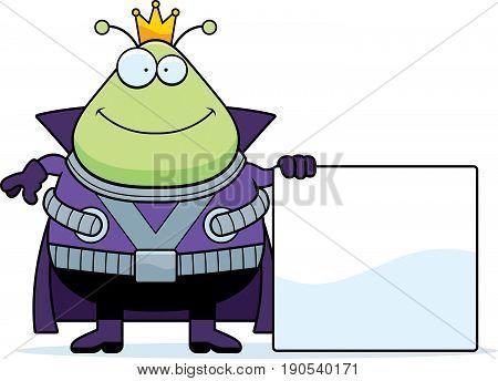 Cartoon Martian King Sign