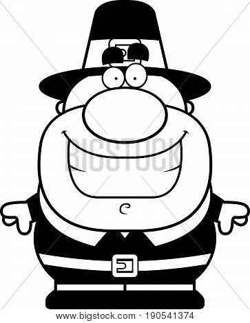 Cartoon Pilgrim Smiling