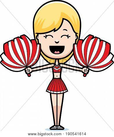 Cartoon Cheerleader Cheering