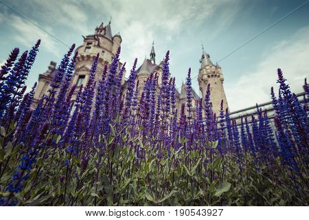 Moszna, Poland - June 04, 2017: The Moszna Castle Is A Historic Palace Located In A Small Village In