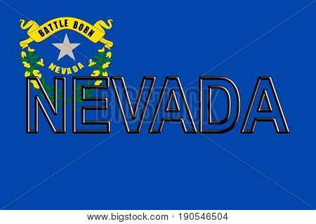 Flag Of Nevada Word