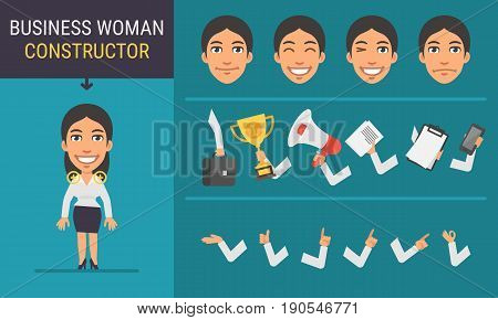 Constructor Character Business Woman