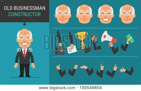 Constructor Character Old Businessman