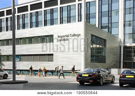LONDON - MAY 24: Imperial College, Business School, South Kensington campus on May 24, 2017 in London, England. business school was opened in 2004 by Queen Elizabeth II