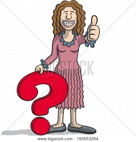Woman With A Question Mark