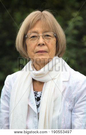 Vertical Portrait Of A Japanese Woman