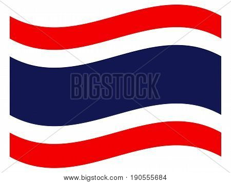 Flag of Thailand on a white background