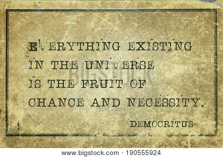 Chance And Democritus