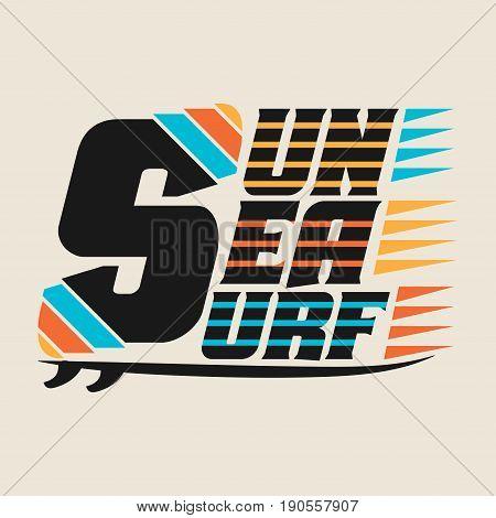 t-shirts Surfing Miami Beach Florida surfing T-shirt inscription typography graphic design emblem