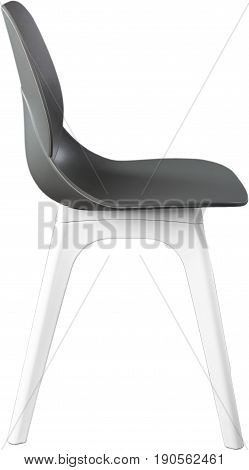 Gray color plastic chair, modern designer. Chair isolated on white background. furniture and interior.