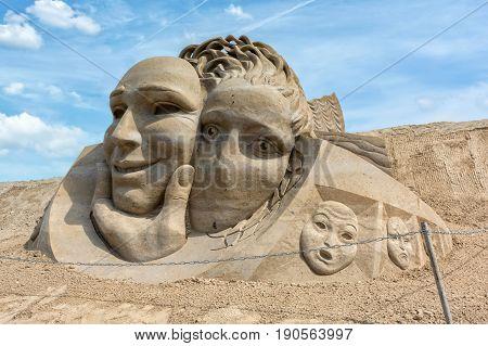 Jelgava, LV - JUNE 10, 2017: International Sand Sculpture Festival