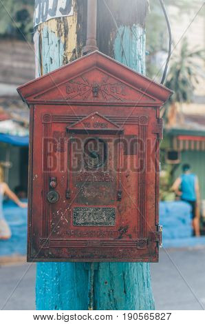 A Turn Of The Century (spanish, American) Firebox Along The Streets Of Quiapo Manila