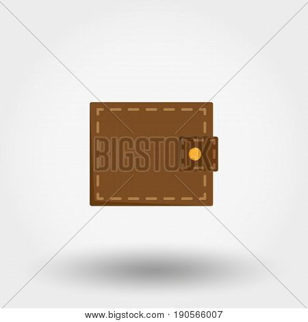 Wallet. Icon for web and mobile application. Vector illustration isolated on a white background. Flat design style.