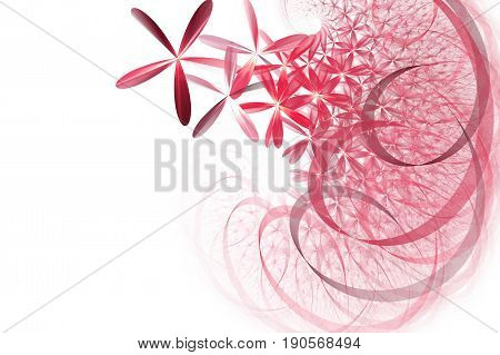 Fractal and colorful abstract daisy tape spiral