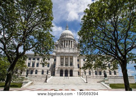 The State Capitol building of Rhode Island