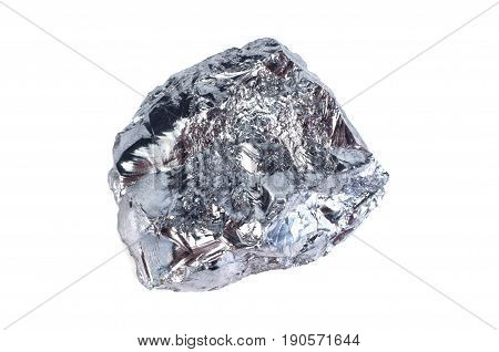 Piece of silicon isolated on white background