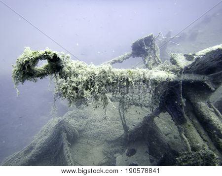 Underwater Wreck. Underwater shipwreck. Underwater Wreck. Underwater shipwreck..