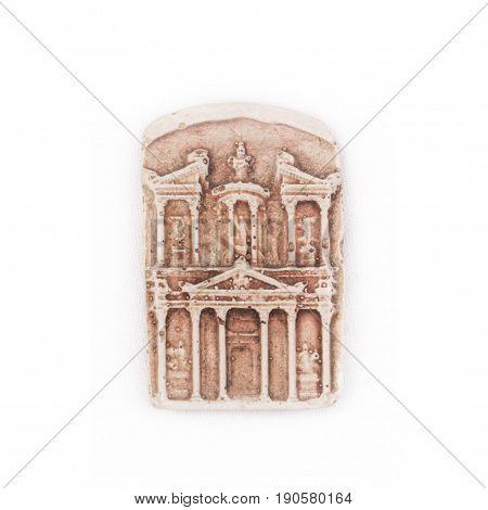 Model ancient civilisation building engraved of Petra, Jordan