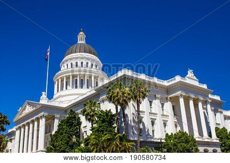 State Capitol Building With Turret & Dome