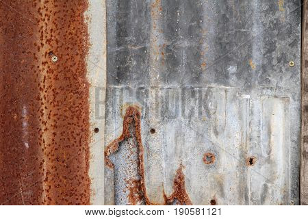Old zinc background with rusty pattern texture