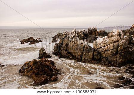 Chile Santiago Vina del Mar Rocks Coast