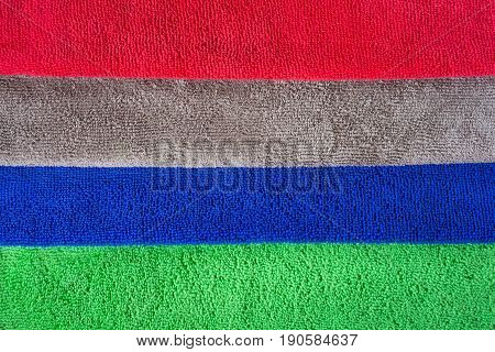 Colorful microfiber fabric for dust removal and cleaning wax on car or absorb water after car wash for dry.