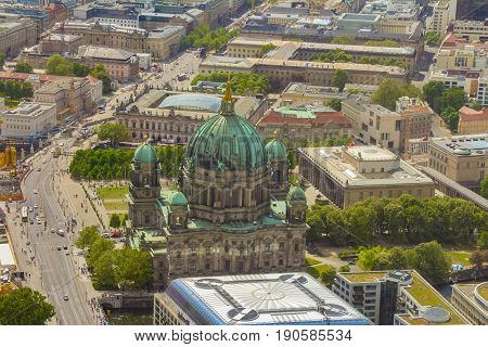 Aerial View Of The Museum Island In Berlin