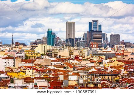 Madrid, Spain cityscape view.
