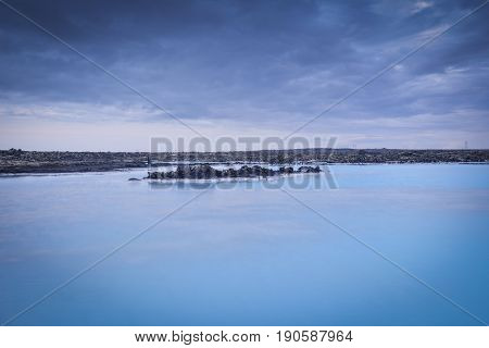 Long Exposure photography of the blue lagoon iceland