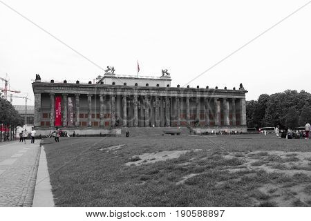 Berlin Germany - May 16 2017: The Altes Museum at Museum Island in Berlin Germany.