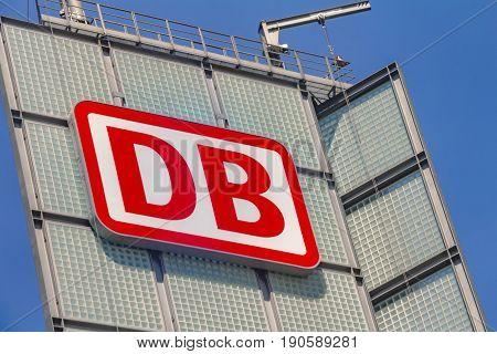The Logo Of The Brand Deutsche Bahn