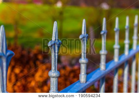 An Image of a decorative metal fence