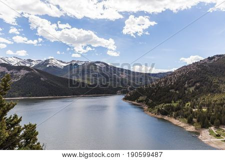 Gibson Reservoir on a spring or summer day in Montana USA.
