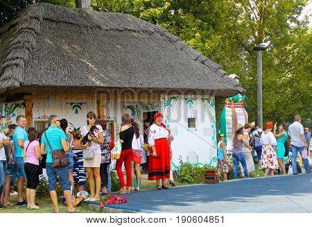 Unidentified People Walking On The Sorochintsy Fair