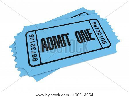 ticket 3d illustration isolated on white background