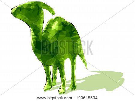 poligonal dinosaur isolated on a white background